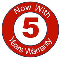 Bosch 5 Years Warranty